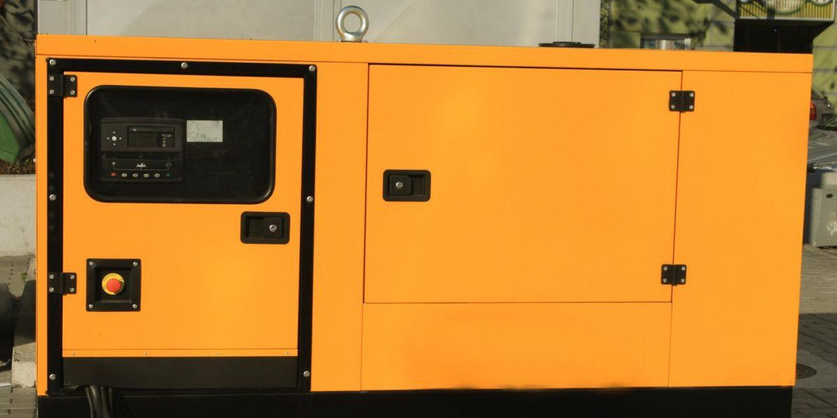 yellow commercial generator