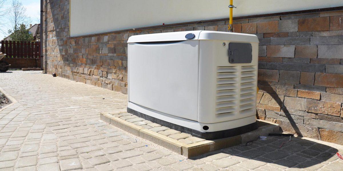 Generator on Brick Pathway