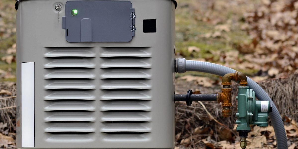 Close up of a generator